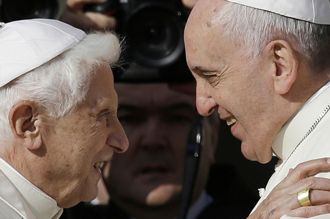 Two Popes clash